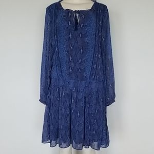 Banana Republic blue snakeskin print dress-XL